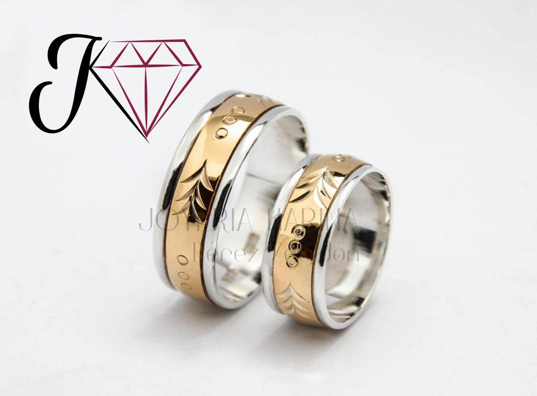 Anillos De Matrimonio Plata Con Oro Costa Rica